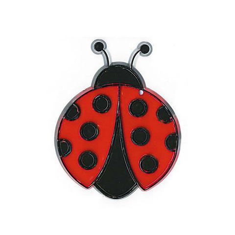 3.75 ins 9.5 cms high NEW Stained Glass Ladybird Handmade Suncatcher