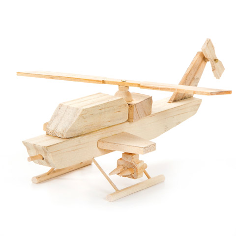 Wood Model Kits 2 25 X7 5 Attack Helicopter